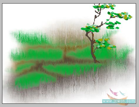 PS鼠绘水彩画效果教程 2